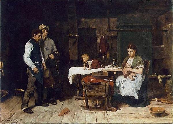 「酒におぼれる亭主」(1872‐73年)ムンカーチ・ミハーイ