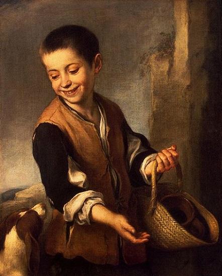 「少年と犬」(1655-60年頃)バルトロメ・エステバン・ムリーリョ