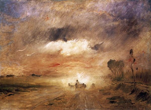 「ほこりっぽい道Ⅱ」(1874年)ムンカーチ・ミハーイ