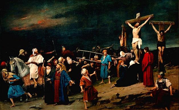「ゴルゴタの丘」(1884年)ムンカーチ・ミハーイ
