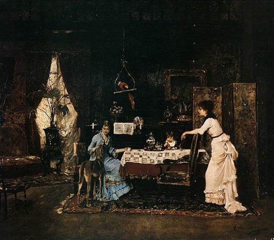 「猟犬」(1882年)ムンカーチ・ミハーイ