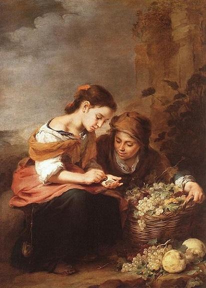 「果物売りの子供」(1670-75年頃)バルトロメ・エステバン・ムリーリョ