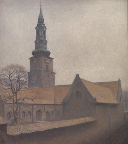 「聖ペテロ聖堂」(1906年)ヴィルヘルム・ハマスホイ