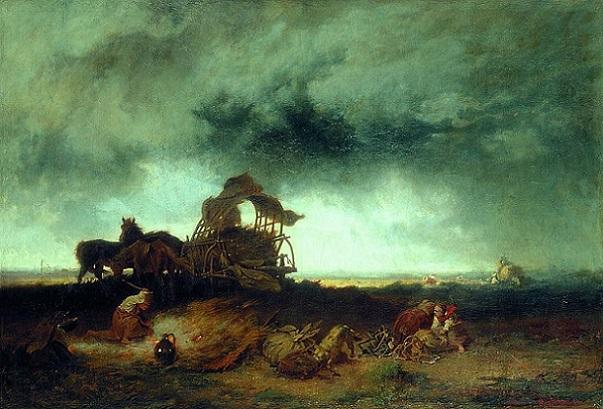 「プスタの嵐」(1867年)ムンカーチ・ミハーイ