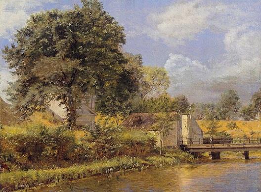 「カステレズ北門の眺め」(1833‐1834年)クレステン・クプゲ