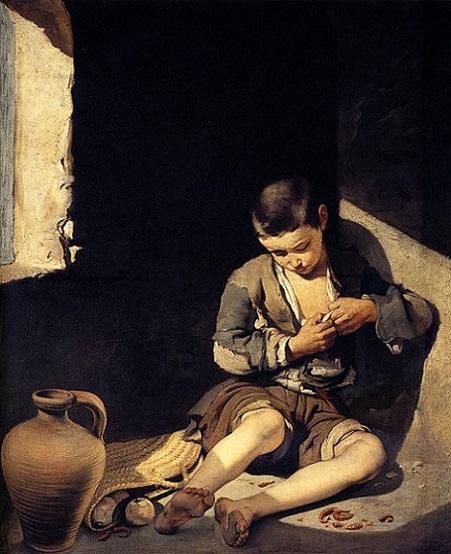 「物乞いの少年」(1645-50年頃)バルトロメ・エステバン・ムリーリョ