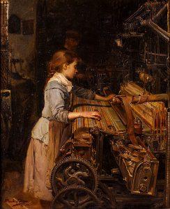 「織工の娘」(1882年)ジュアン・プラネッリャ