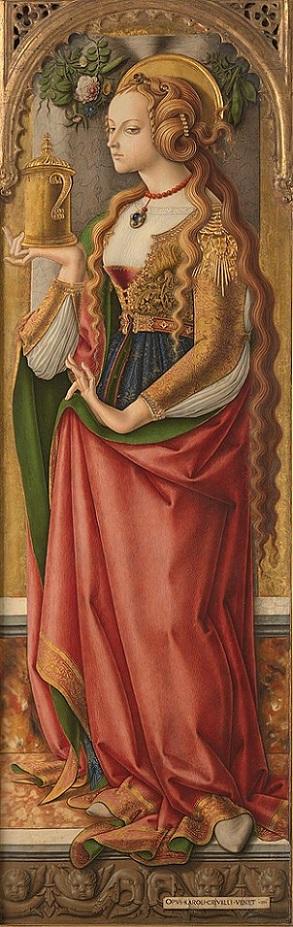 「マグダラのマリア」(1480年頃)カルロ・クリヴェッリ