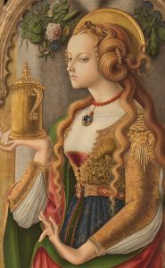 「マグダラのマリア(detail)」(1480年頃)カルロ・クリヴェッリ