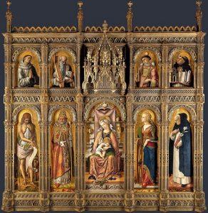 「サン・ドミニコの主祭壇画」(1476年)カルロ・クリヴェッリ