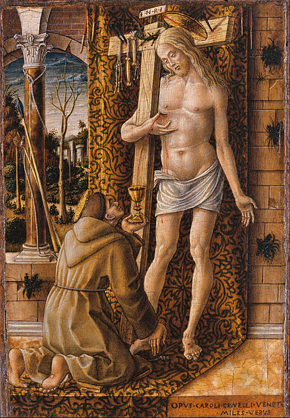 「キリストの血を集める聖フランチェスコ」カルロ・クリヴェッリ