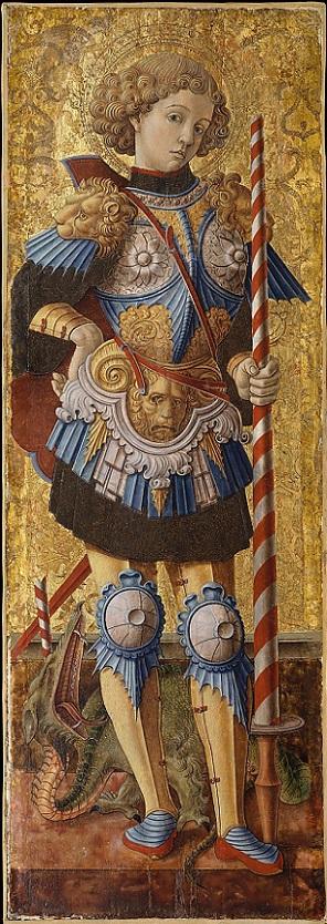 「聖ゲオルギオス」(1472年)カルロ・クリヴェッリ