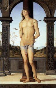 「聖セバスティアヌス」(1495年頃)ペルジーノ