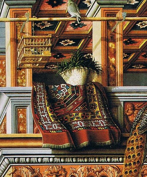 「聖エミディウスを伴う受胎告知(detail)」(1486年)カルロ・クリヴェッリ