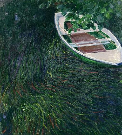 「小舟」(1887年)クロード・モネ