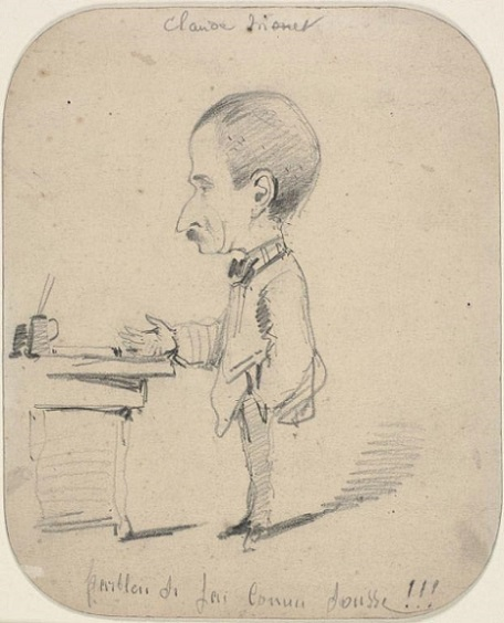 「Caricature of Man Standing by Desk」(1855-1856年頃)Claude Monet