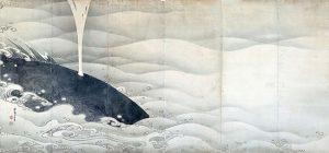 「象と鯨図屏風」(1797年)伊藤若冲