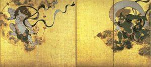 「風神雷神図屏風」(17世紀頃)俵屋宗達