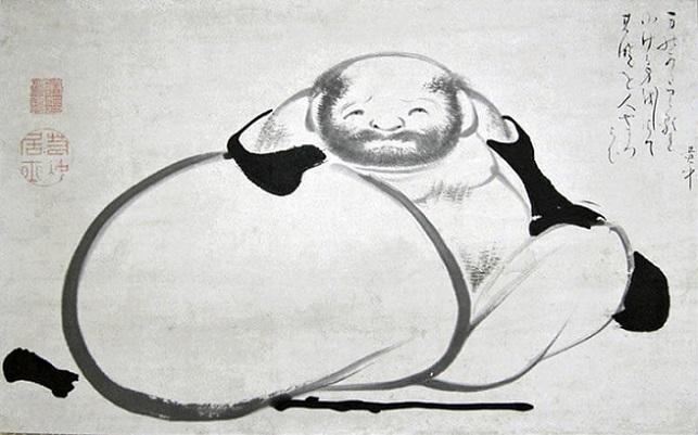 「布袋図」伊藤若冲