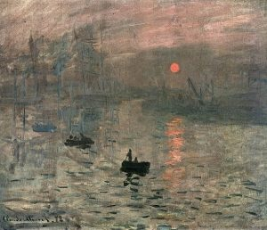 「印象、日の出」(1872年)クロード・モネ