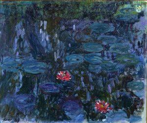 「睡蓮、柳の反映」(1916‐1919年)クロード・モネ