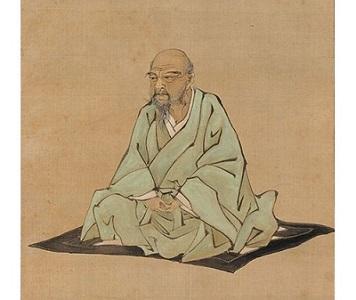 「伊藤若冲像」(1885年)久保田米僊