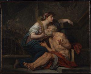 「Roman Charity」(1767年頃)ジャン=バティスト・グルーズ