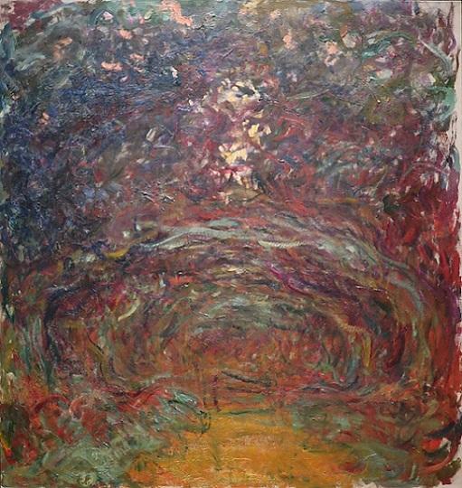 「バラの小道、ジヴェルニー」(1920~22)クロード・モネ