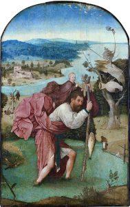 「聖クリストフォロス」(1450年頃)ヒエロニムス・ボス