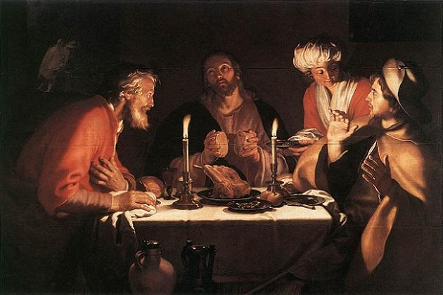 「エマオの晩餐」(1622年)アブラハム・ブルーマールト