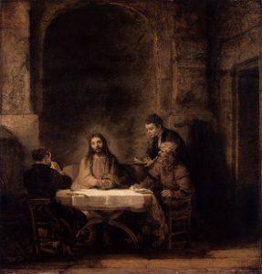 「エマオの晩餐」(1648年)レンブラント・ファン・レイン