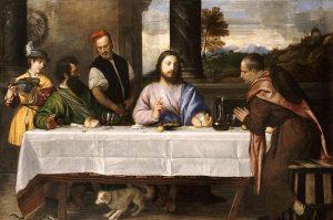 「エマオの晩餐」(1535年頃)ティツィアーノ・ヴェチェッリオ