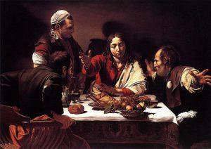 「エマオの晩餐」(1601年)ミケランジェロ・メリージ・ダ・カラヴァッジョ