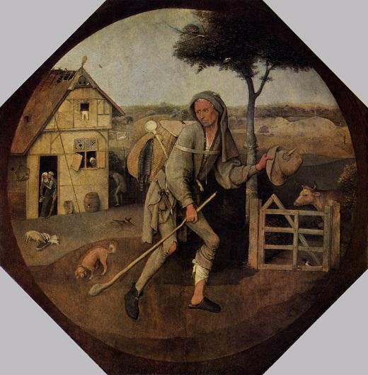 「放浪者(行商人)」(1450年頃)ヒエロニムス・ボス