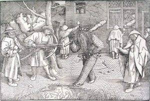 「野生人」(1566年)ピーテル・ブリューゲル1世