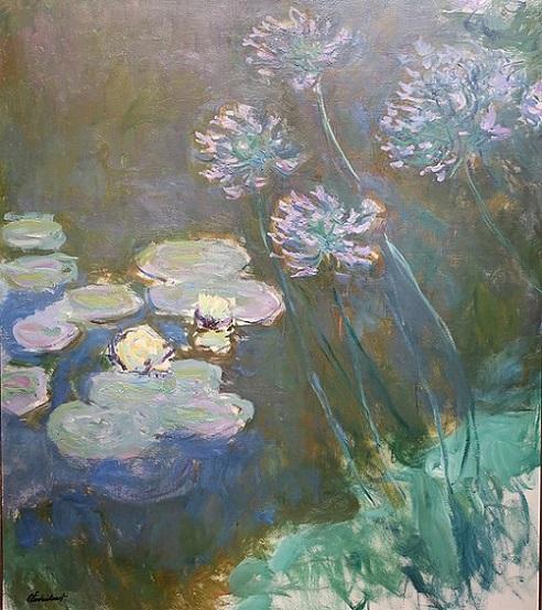 「睡蓮とアガパンサス」(1914‐1917年)クロード・モネ
