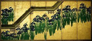 「八橋図(六曲屏風一双)」(江戸時代、18世紀頃)尾形光琳