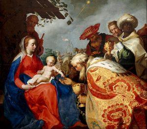「東方三博士の礼拝」(1624年)アブラハム・ブルーマールト