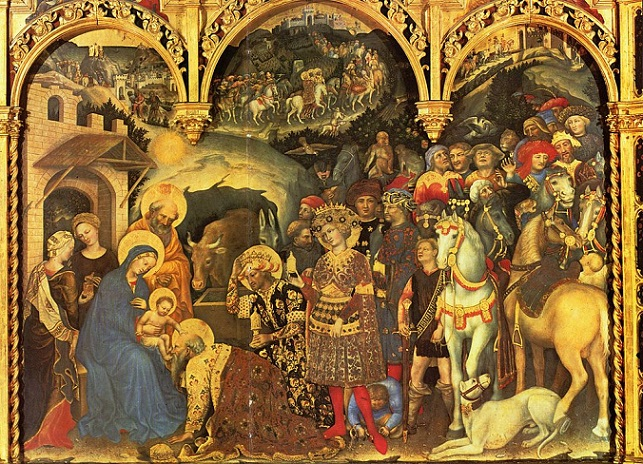 「東方三博士の礼拝」(1423年)ジェンティーレ・ダ・ファブリアーノ