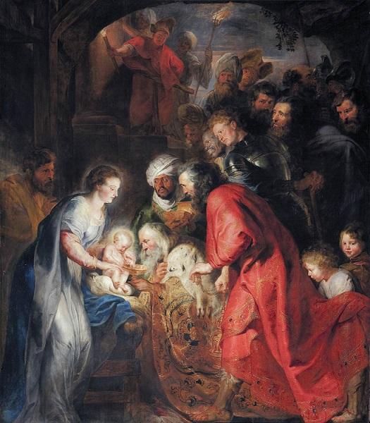 「東方三博士の礼拝」(1619年)ピーテル・パウル・ルーベンス