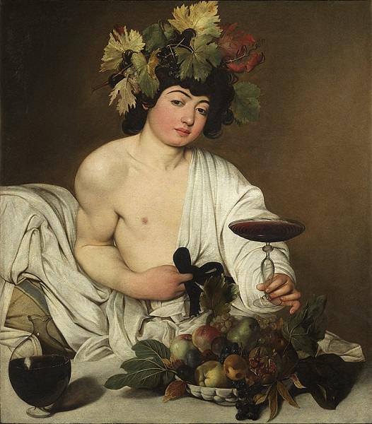 「バッカス」(1595年頃)ミケランジェロ・メリージ・ダ・カラヴァッジョ
