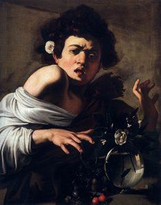 「トカゲに噛まれる少年」(1596年頃)ミケランジェロ・メリージ・ダ・カラヴァッジョ
