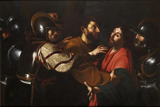 「キリストの捕縛」(1613‐1615年)バルトロメオ・マンフレーディ