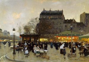 「Carousel at the Porte Dorée」ルイジ・ロワール
