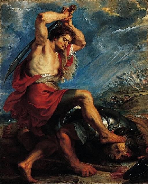 「ダヴィデとゴリアテ」(1616年頃)ピーテル・パウル・ルーベンス