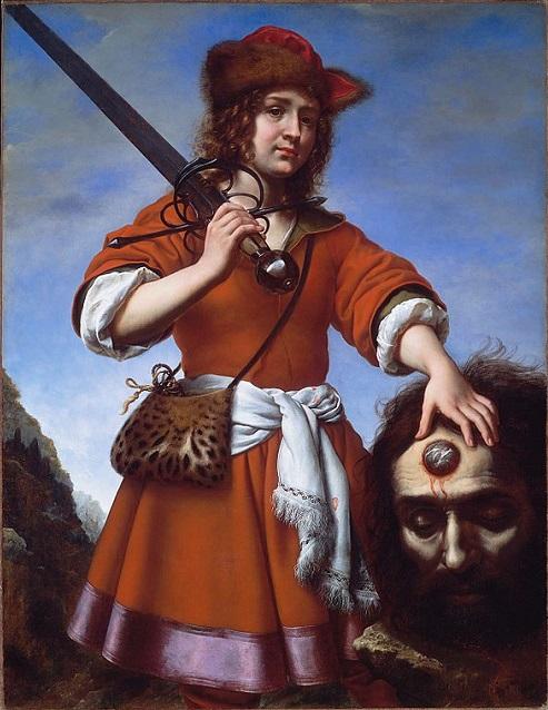 「ゴリアテの首を持つダヴィデ」(1680年)カルロ・ドルチ