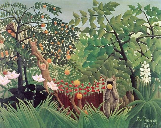 「異国風景」(1910年)アンリ・ルソー