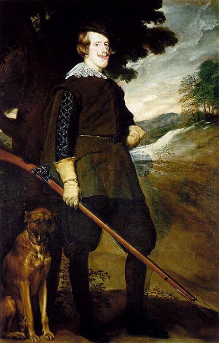 「狩猟服姿のフェリペ 4世」(1632-1634年)ディエゴ・ベラスケス