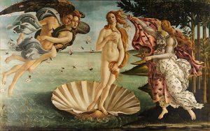 「ヴィーナスの誕生」(1485年頃)サンドロ・ボッティチェッリ
