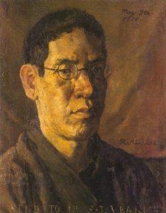 「自画像(椿君に贈る自画像)」(1914年5月8日)岸田劉生